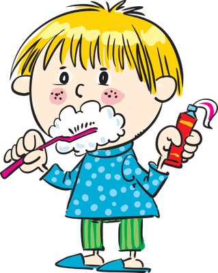 child brushing her teeth | Health and Nutrition