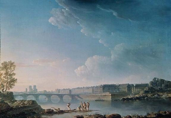 The Ile Saint-Louis and the Pont de la Tournelle, c.1780
