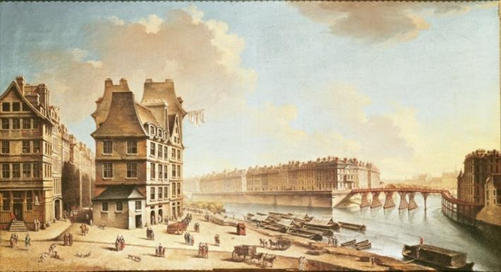 The Ile Saint-Louis from the Place de Greve, c.1757