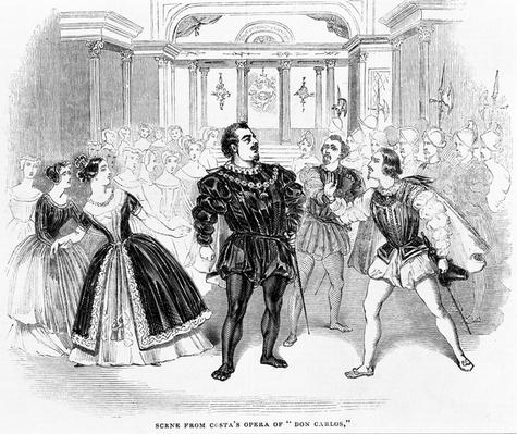 Scene from Costa's Opera of 'Don Carlos', 1844