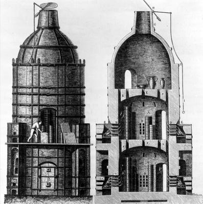 Kiln for baking Sevres porcelain, 1882