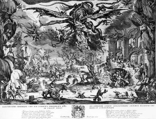 The Temptation of Saint Anthony, by Jacques Callot, 1635