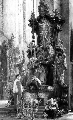Drawing of an Altar, by Adolf Menzel, 1885