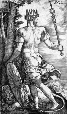Sol, printed by Georg Pencz, 1529