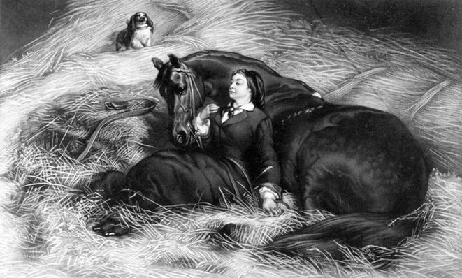 Girl with Horse, published by Henry Graves& Co. after Rose Bonheur, 19th Century