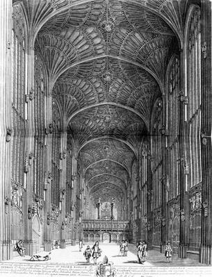 "King's College Chapel, taken from ""Cantabrigia Illustrata"" by D. Loggan, circa 1690"