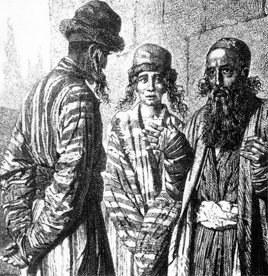 "The Jews of Tashkent, Capital of Uzbekistan, in the Nineteenth Century, taken from ""The World in Your Hands"", 1878"