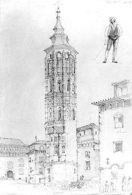 Torre Nueva of Zaragoza, 1831