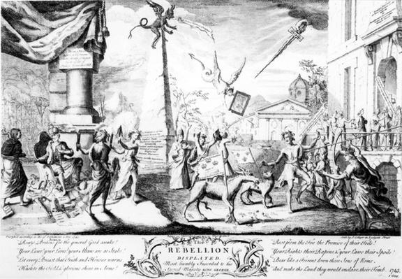 The Rebellion displayed; Most humbly inscribed to his sacred majesty King George, published by J. Collyer, 1745