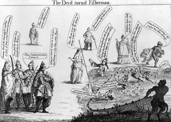 The Devil turned Fisherman, circa 1757