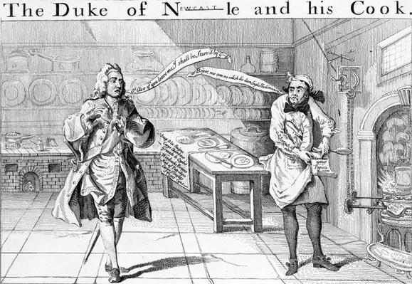The Duke of Newcastle and his Cook, circa 1745