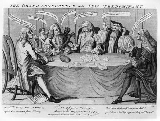 The Grand Conference, or Jew Predominant, 1753