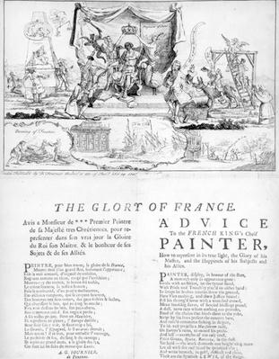 The Glory of France, published by Daniel Fournier, 1747