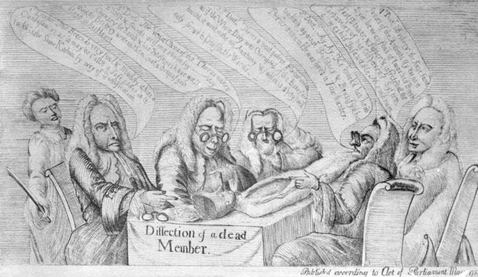 Dissection of a Dead Member, 1754