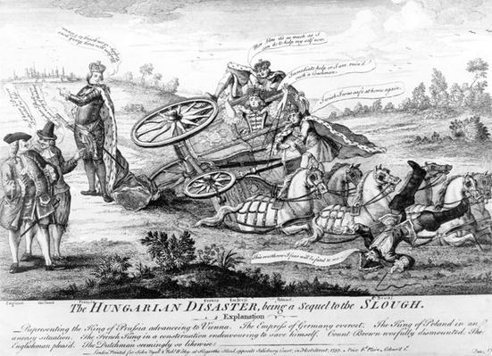 The Hungarian Disaster, being a sequel to the Slough, published by John Ryall and Robert Withy, 1757