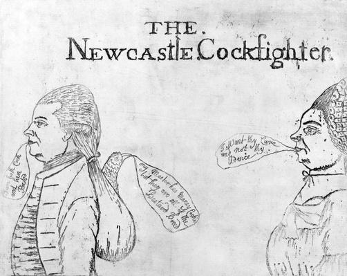 The Newcastle Cockfighter, circa 1750