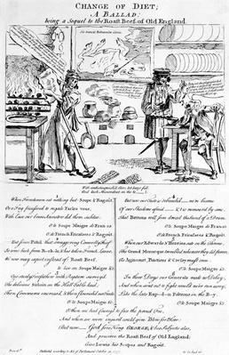 Change of Diet, A Ballad, 1757