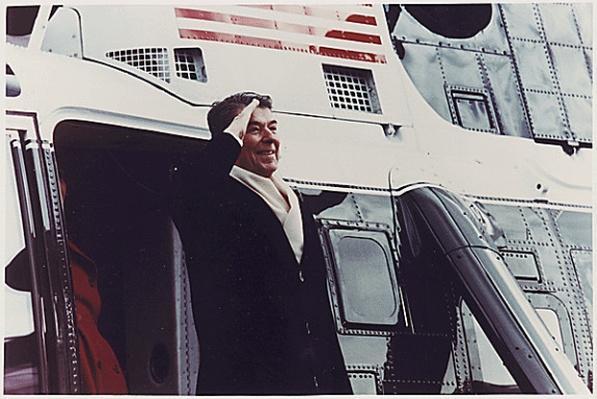 President Reagan's last day