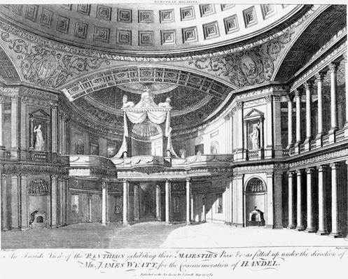 An inside view of the Pantheon, Oxford Street, London, 1784