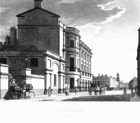 Hanover Square, by Thomas Malton, 1800