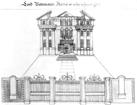 Lord Bateman's House in Soho Square, 1764