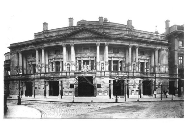 "Queen's Hall in Langham Place, taken from ""The Descriptive Album of London"" by George Birch, circa 1896"