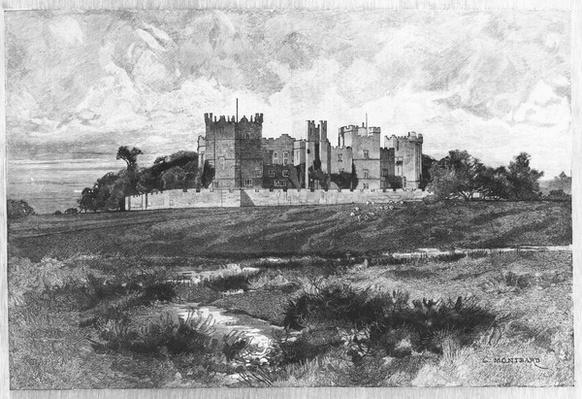 Raby Castle, Durham, taken from the Illustrated London News, 1892