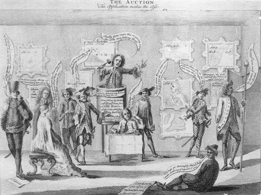 The Auction, by Matthew Darly, circa 1756