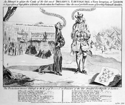 Satirical Print, published by Thomas Kitchen, 1755