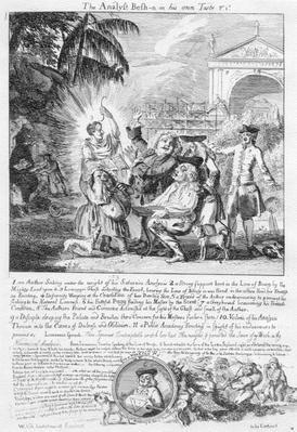 The Analyst Besh-n in his own Taste, print by Paul Sandy, 1735