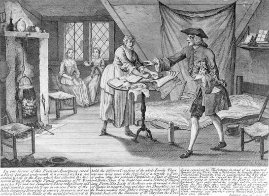 Pompey the Little, print by John Jone, 1751