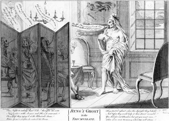 Byng's Ghost to the Triumvirate, circa 1757