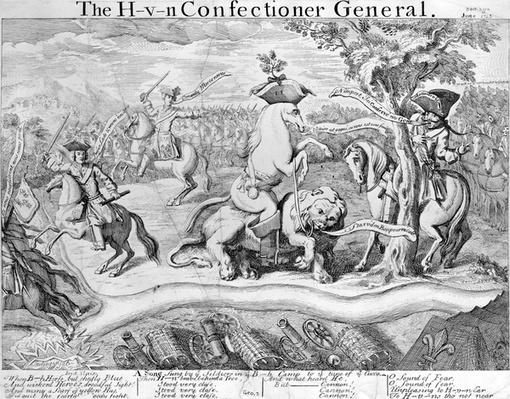The H- V- N Confectioner General, circa 1743