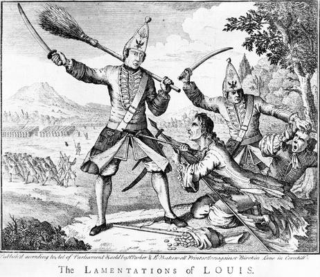 The Lamentations of Louis, published by Henry Parker and E. Bakewell, 18th Century