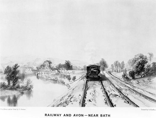 Railway and Avon, near Bath, printed by C. F. Cheffins, 1843