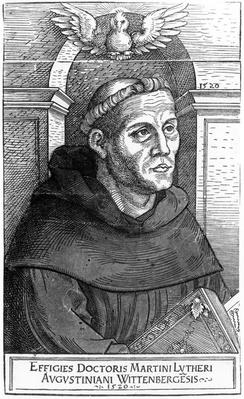 Martin Luther as Augustinian Friar, 1520-24
