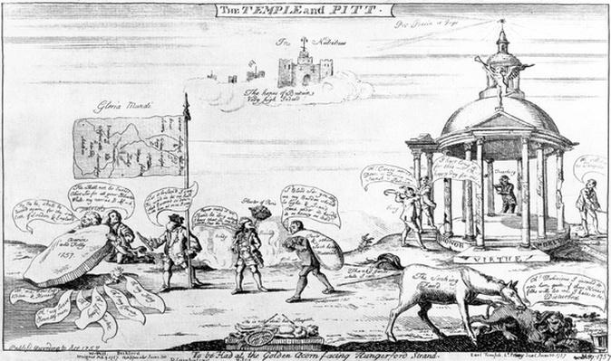 The Temple and Pitt, 1757