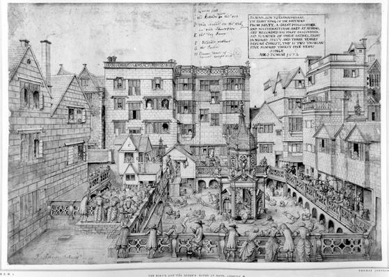 The King's Bath and the Queen's Bath, 1675