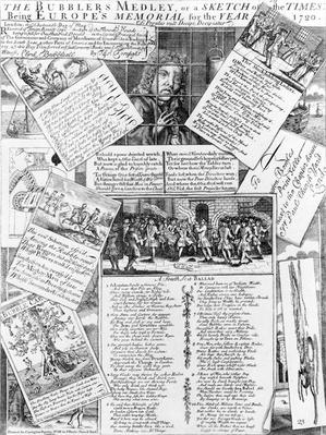 The Bubbler's Medley, or a Sketch of the Times: Being Europe's Memorial for the Year 1720, published by Carington Bowles, 1720
