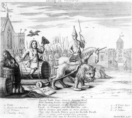 Satire on the Excise Bill, 1733