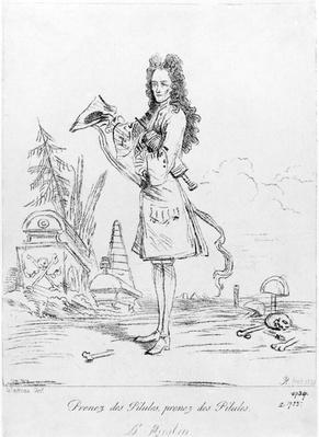 Prenez des pilules, prenez des pilules - Dr. Misabin, print made by Arthur Pond after Antione Watteau, 1739
