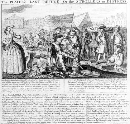 The Player's Last Refuge, or The Strollers in Distress, published by Bispham Dickinson, 1735