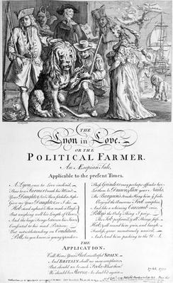 The Lyon in Love, or A Political Farmer, 1738
