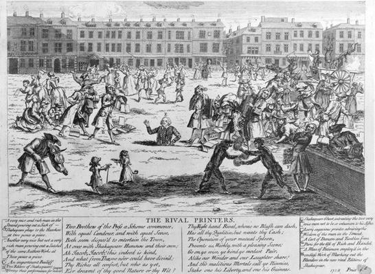 The Rival Printers, 1734