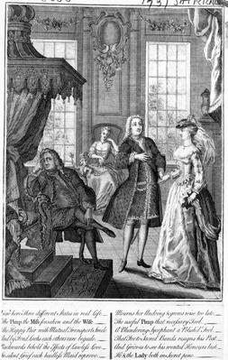 Three Different States in Real Life - the Pimp and Miss Forsaken and the Wife�, 1735-36