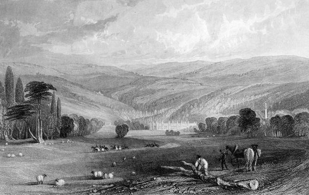 Gibside, County of Durham, engraved by T. Prior after T. Allon, 1835