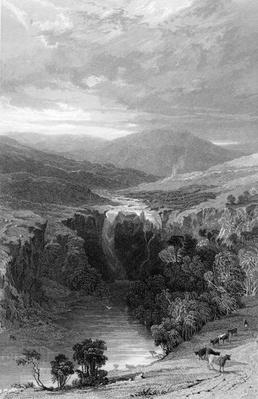 High Force by the Tees, Durham, engraved by S. Lacey after T. Allon, circa 1835