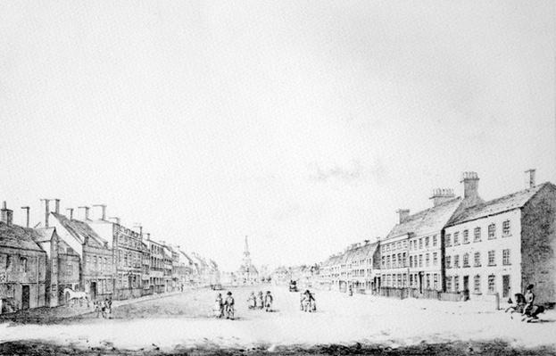 View of the Principal Street of Stockton in the County of Durham, 1796
