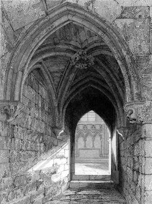 Durham Cathedral North End, engraved by J. Saddler after R. Billings, 1843