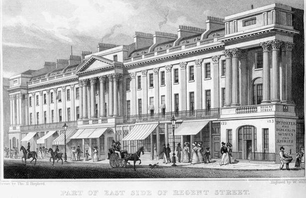 Part of the east side of Regent Street, London